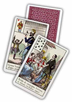 immagine raffigurante 4 carte di cui due scoperte e una coperta