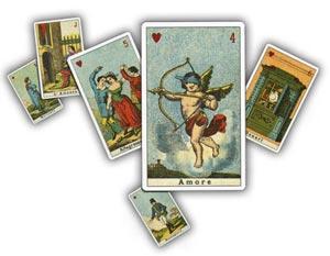 immagine raffigurante 6 carte dell'antica sibilla italiana